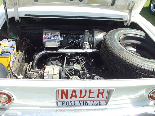 Corvair engine bay, this is a turbo