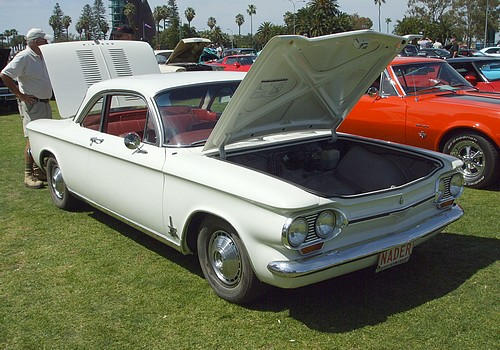 Chevrolet Corvair with NADER license plates