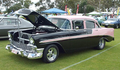 1956 Pink & Black Chevrolet Bel Air