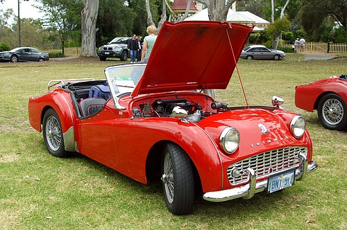 1957 Triumph TR6 owned by Lyn & Ken Bedwell