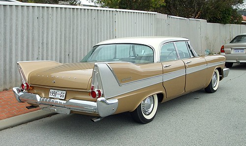 1958 Plymouth Belvedere 4 door hardtop - rear view
