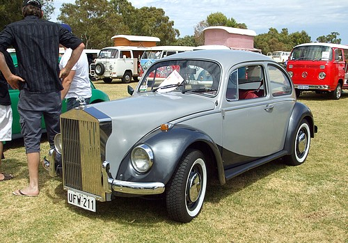 1969 VW Beetle with Rolls Royce front grill