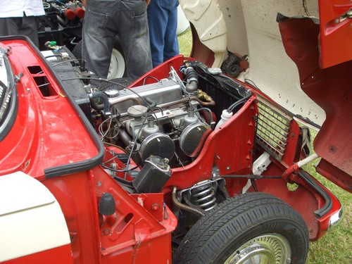 Triumph Herald engine bay