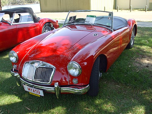 1959 Red MGA owned by Peter Hagarty