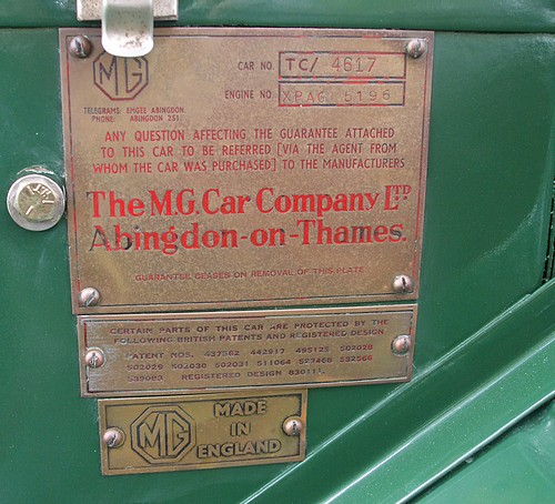 MG TC 4617 badge