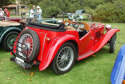 MG TC red