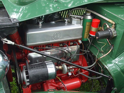 Under the bonnet of MG TC #4617
