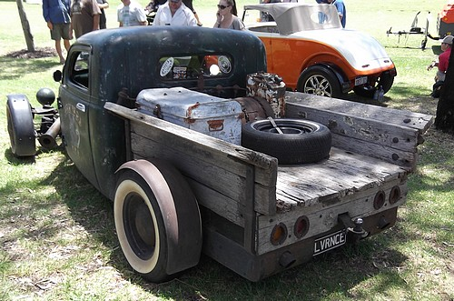 Check the wooden tray on this ratrod