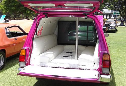 Inside the back of the WB Holden panel van