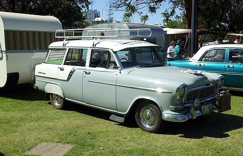 FC with spats, roofrack, caravan