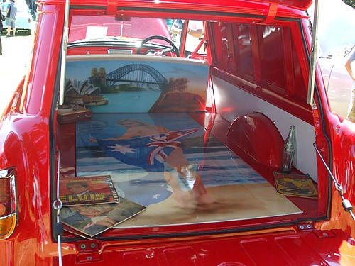 Rear of the FC surf van