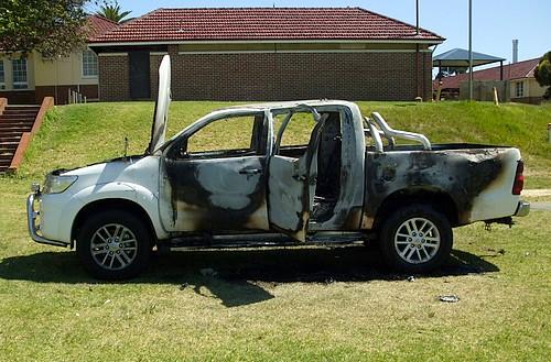 Hilux SR5 burnt