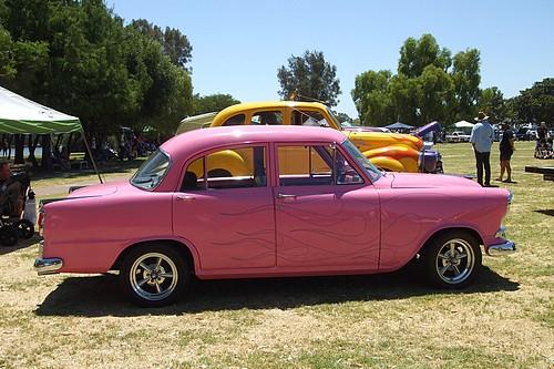 Pink FE Holden sedan