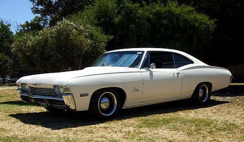 Chevy Impala Coupe white