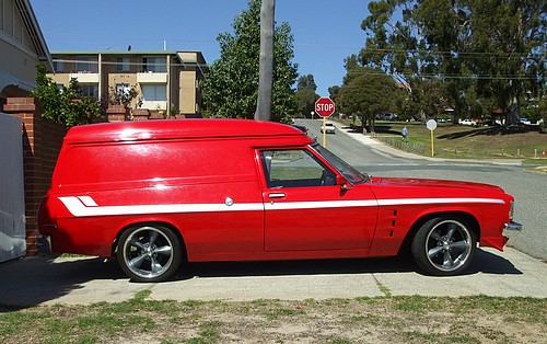 Red Holden HZ Sandman