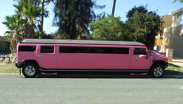 Hummer stretch limousine in pink