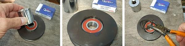 Refitting new 6203 bearing to Range Rover tensioner