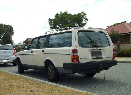 White Volvo 240GL wagon