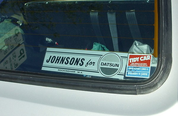 Silver Datsun 200B GX Wagon