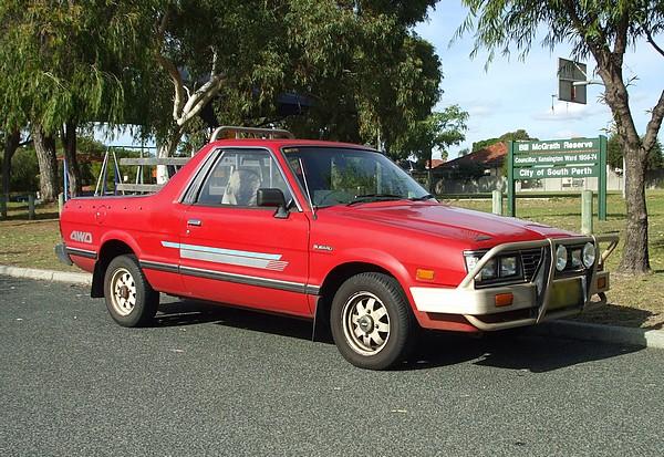 1991 Subaru Brumby 4WD Red