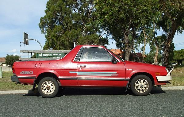 1991 red Subaru Brumby 4WD