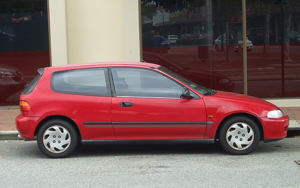 1993 Honda Civic Breeze red