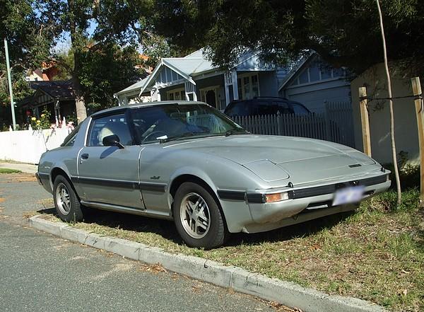 Silver Mazda RX7