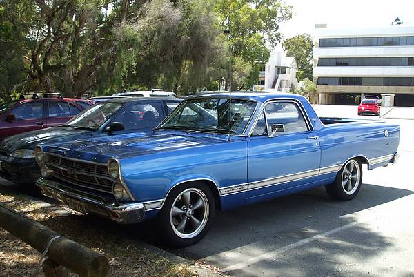 1967 blue Fairlane Ranchero ute