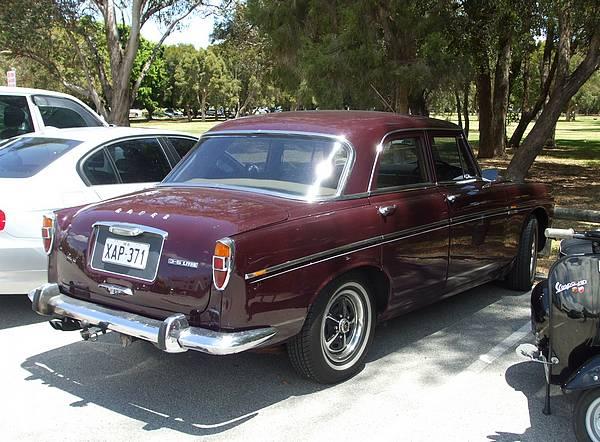 Burgundy Rover P5 3.5 litre