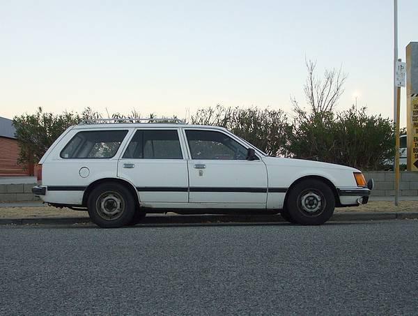 White VH Commodore SL Wagon