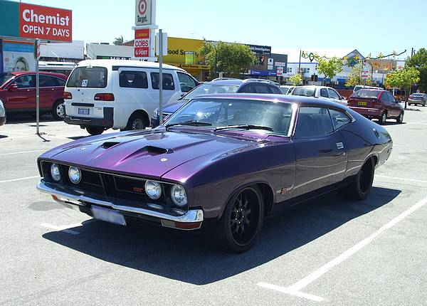 Purple XB Falcon GT Coupe