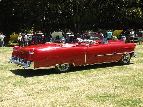 1955 Cadillac Convertible red