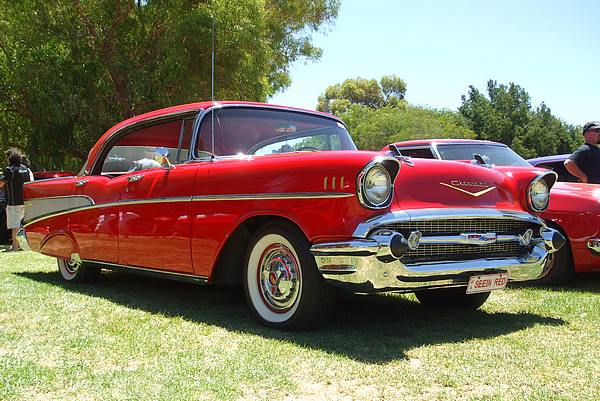 1957 Chevrolet Belair red
