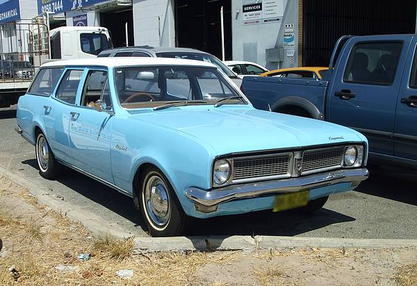 Light blue HG Holden Station Wagon