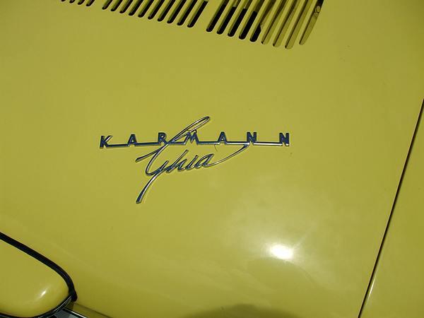 Yellow Volkswagen Karman Ghia