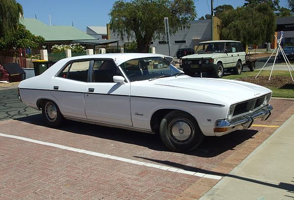 White Ford XB Fairmont V8