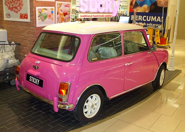 Pink Austin Mini at Paradigm Mall