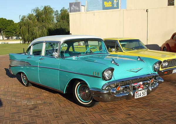 turquoise 1957 Chev Belair