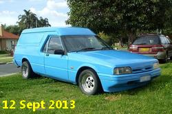 XG Ford Falcon Panel Van in Bionic Blue