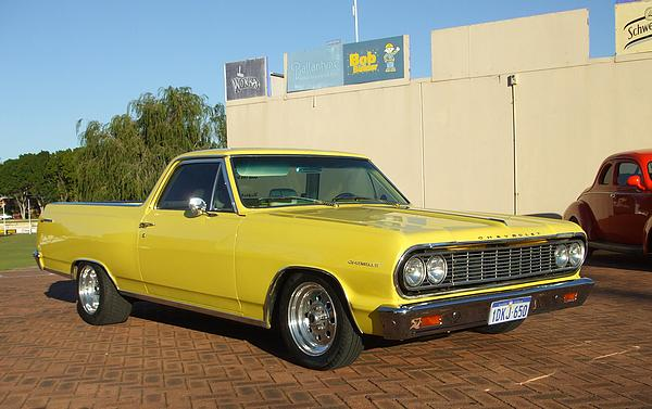 Yellow Chevy El Camino Ute