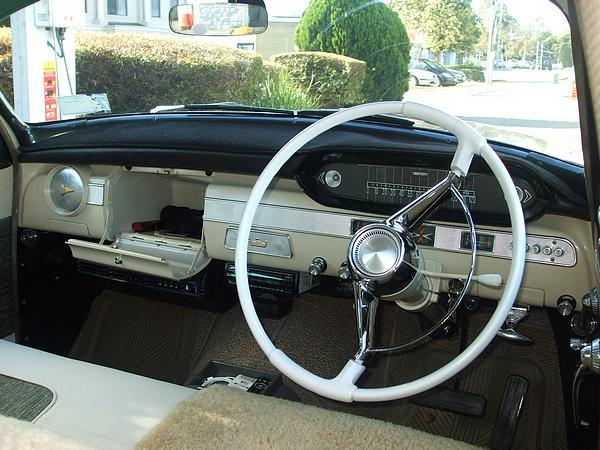 1960 Chrysler Royal interior with push button auto