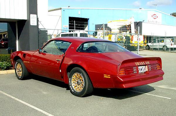 Red Pontiac Trans Am 1976 WS4