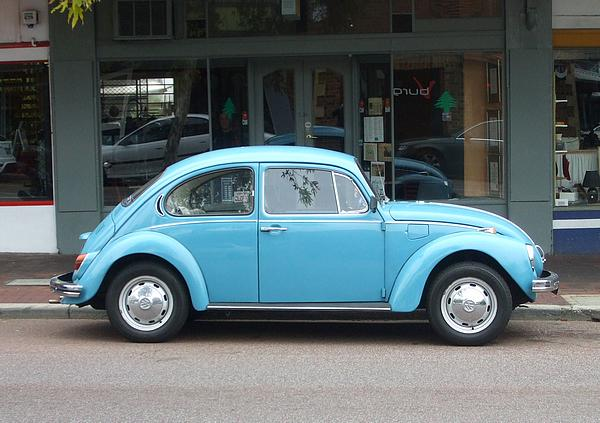 Blue VW Beetle Superbug