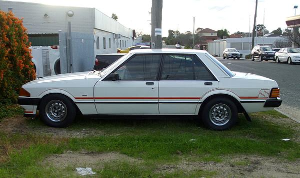 White Ford 1982 XE Falcon S Pack