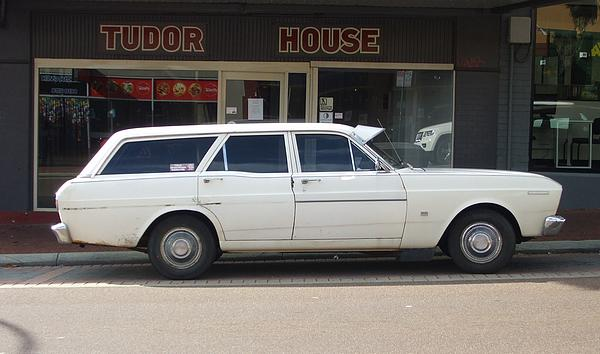 White XT Falcon Station Wagon
