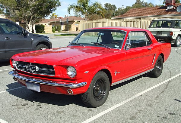 1965 Red Ford Mustang Coupe