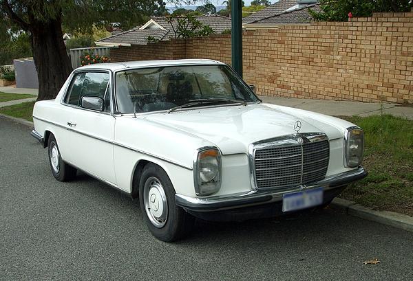 White Mercedes 280CE Coupe