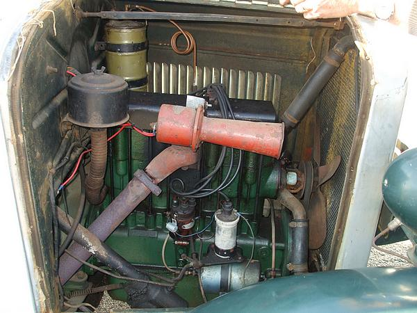 1927 Chevrolet Tourer engine