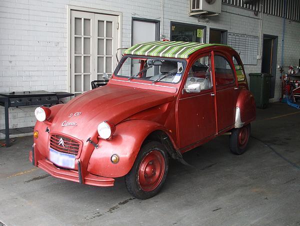 Red Citroen 2CV