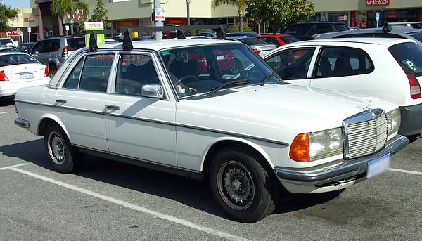 White Mercedes 280E